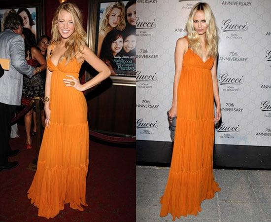 Who Wore It Better? Orange Gucci Resort Maxi Dress