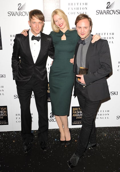 Jefferson Hack, Claudia Schiffer, Nicholas Kirkwood (Swarovski Emerging Talent Award)