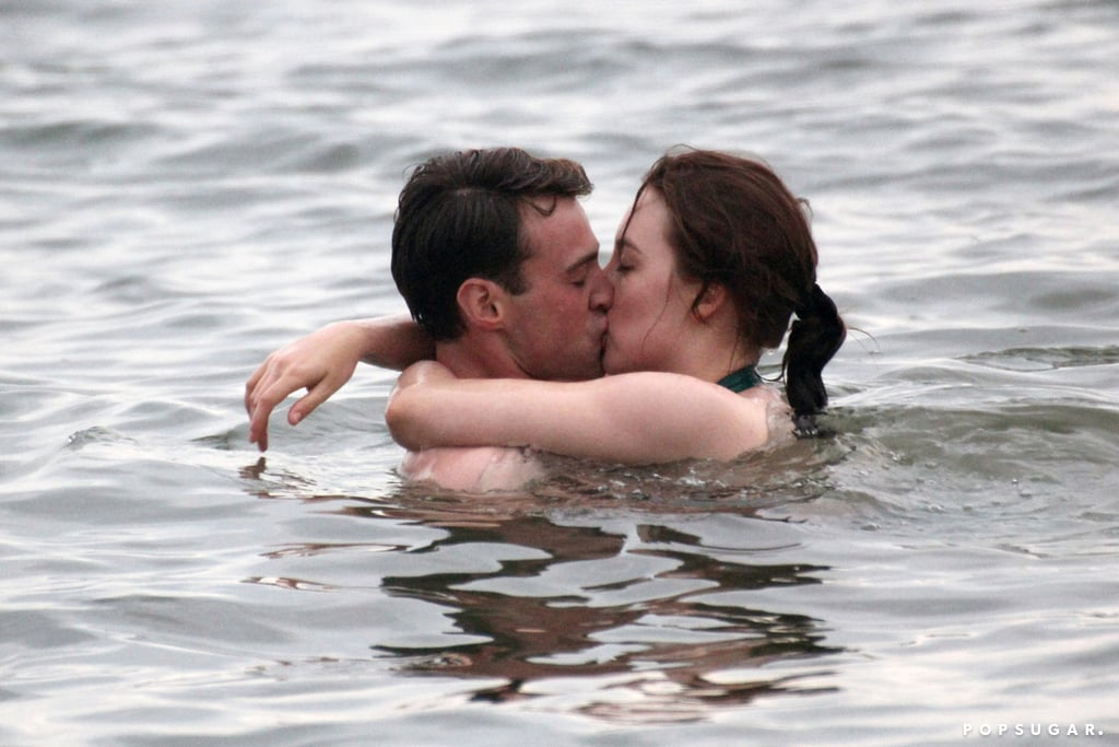 Saoirse Ronan and Emory Cohen shared a passionate kiss while filming Brooklyn at Coney Island.
