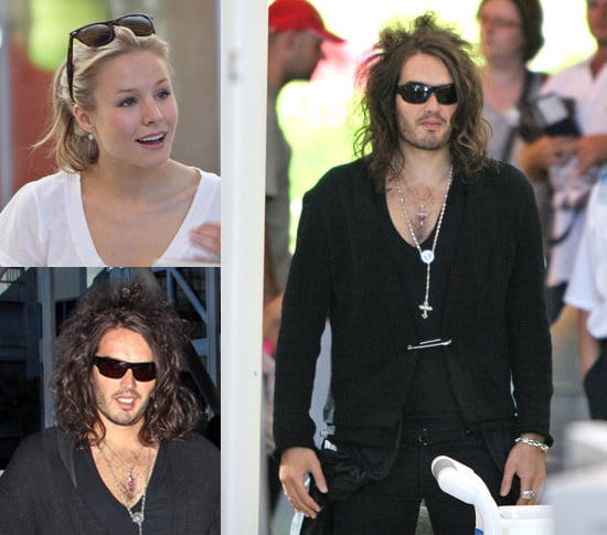 Russell Brand and Kristen Bell Leaving LAX Airport