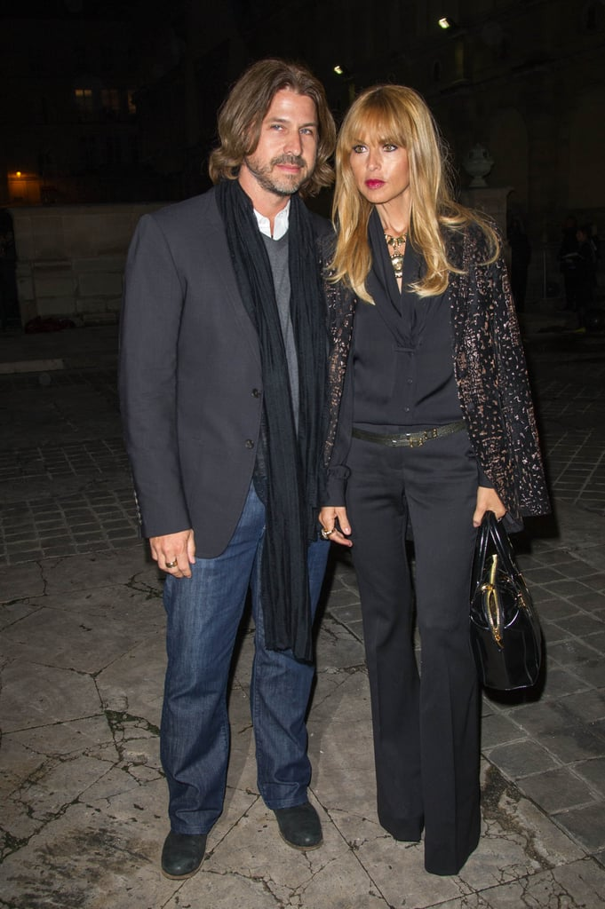 Rachel Zoe and Roger Berman coupled up outside of the Lanvin show.