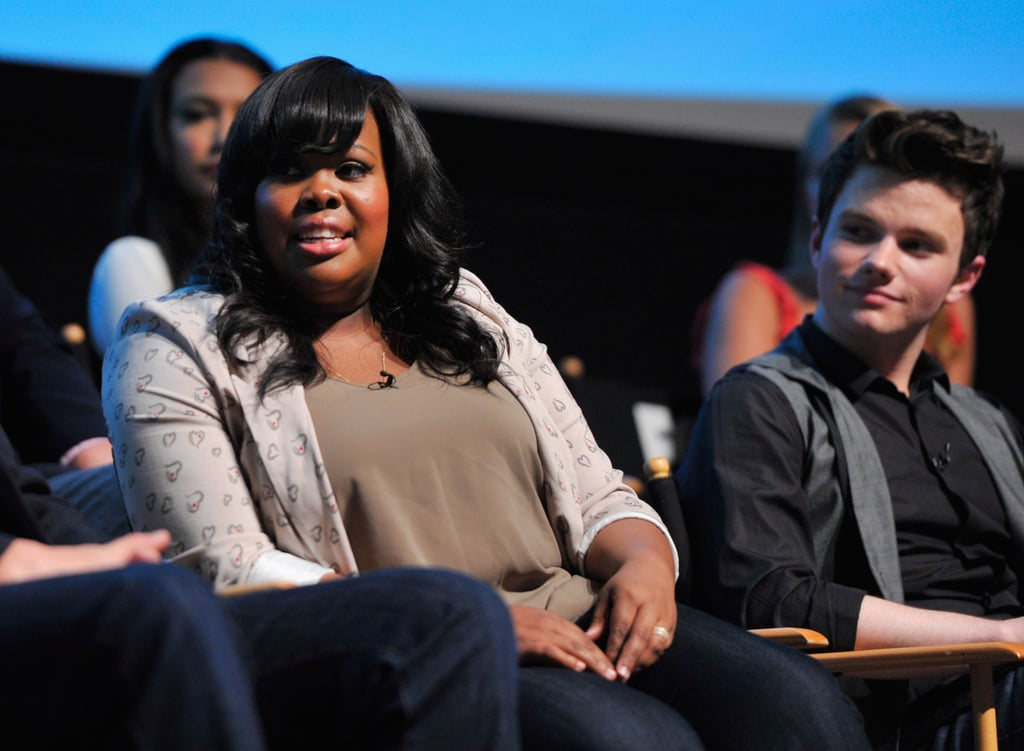 Amber Riley and Chris Colfer
