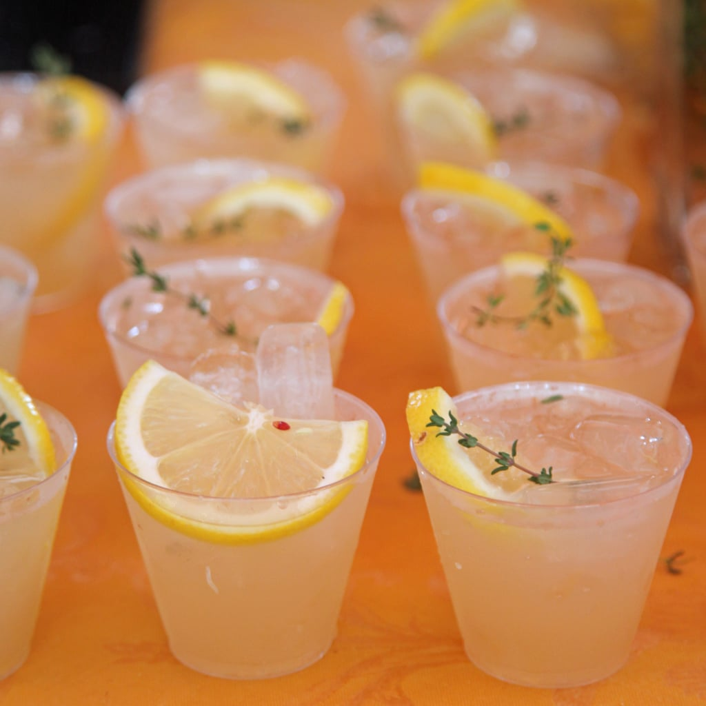 Ginger, Thyme, and Gin Cocktails