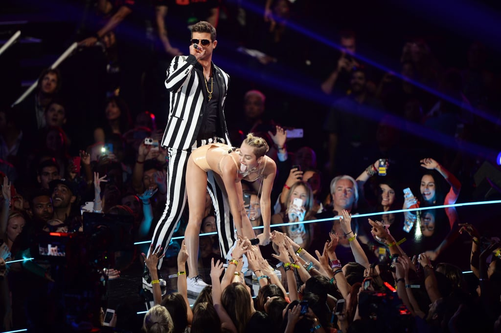 Miley Cyrus and Robin Thicke performed at the MTV VMAs.