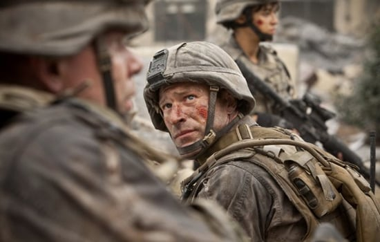 Trailer For Battle Los Angeles, Starring Aaron Eckhart, Bridget Moynahan, and Michelle Rodriguez