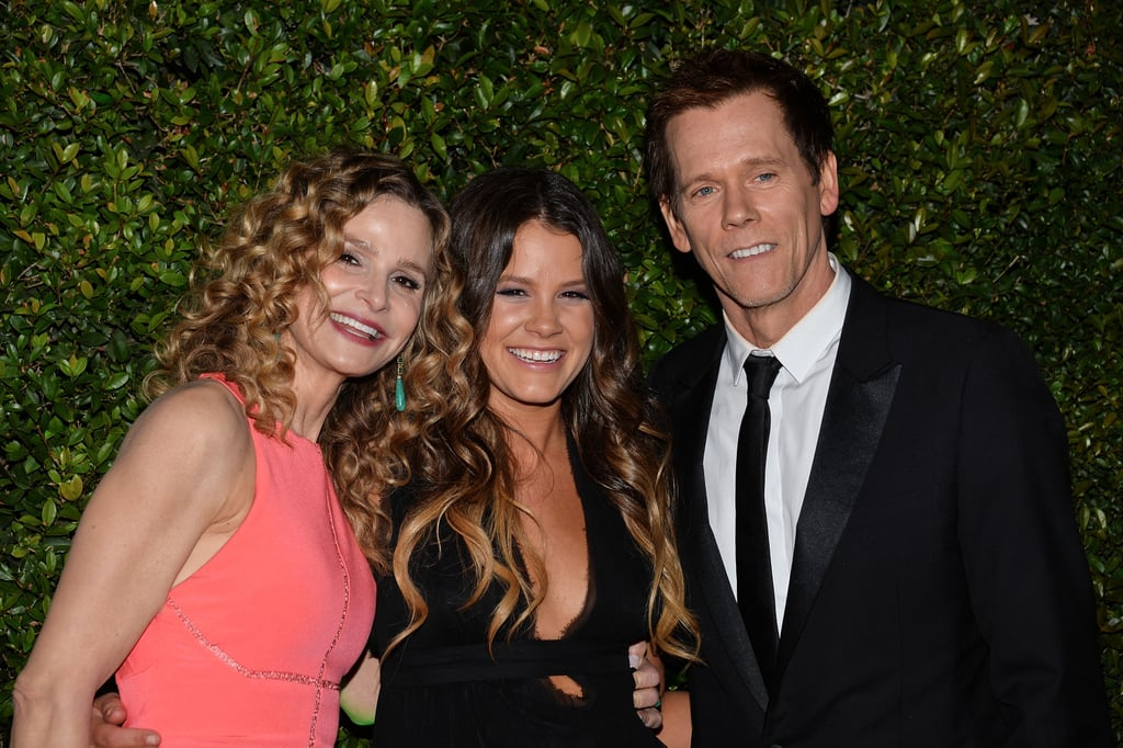 Kevin Bacon and his wife, Kyra Sedgwick, posed with their daughter, Sosie Bacon — aka Miss Golden Globe.