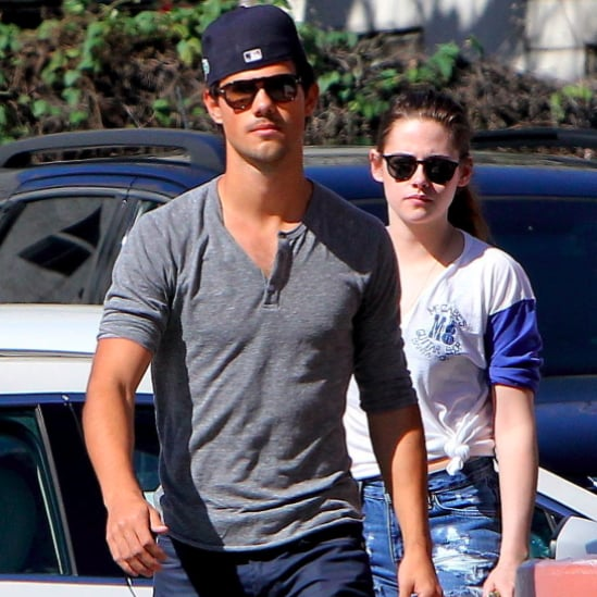 Kristen Stewart and Taylor Lautner at Batting Cages