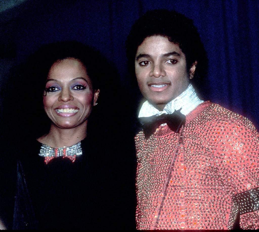 Bow-tie-clad Diana Ross and Michael Jackson were snapped backstage in 1981.