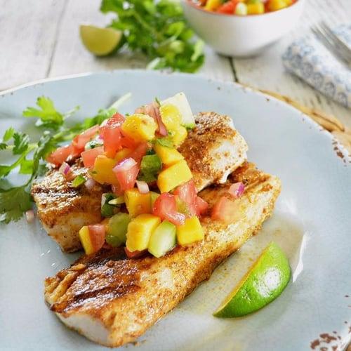 Mahi mahi with mango salsa popsugar fitness for Mahi mahi fish recipe