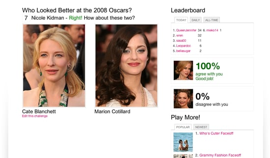 Who Looked Better at the Oscars? Play and Win!