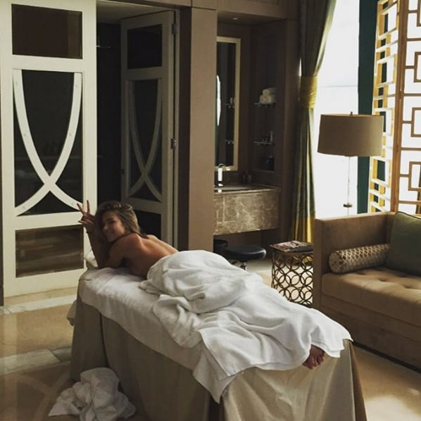 Jennifer indulged in a massage in Nov. 2015.