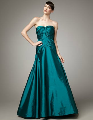 ML Monique Lhuillier Strapless Taffeta Gown ($898)