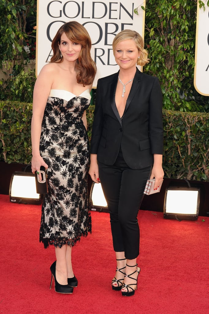 Tina Fey and Amy Poehler posed together before their 2013 hosting gig.