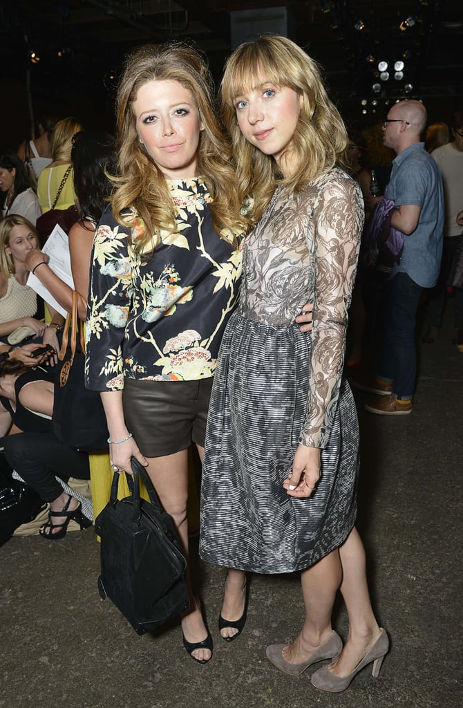 Natasha Lyonne and Zoe Kazan posed together in the front row at the Honor show on Thursday evening.