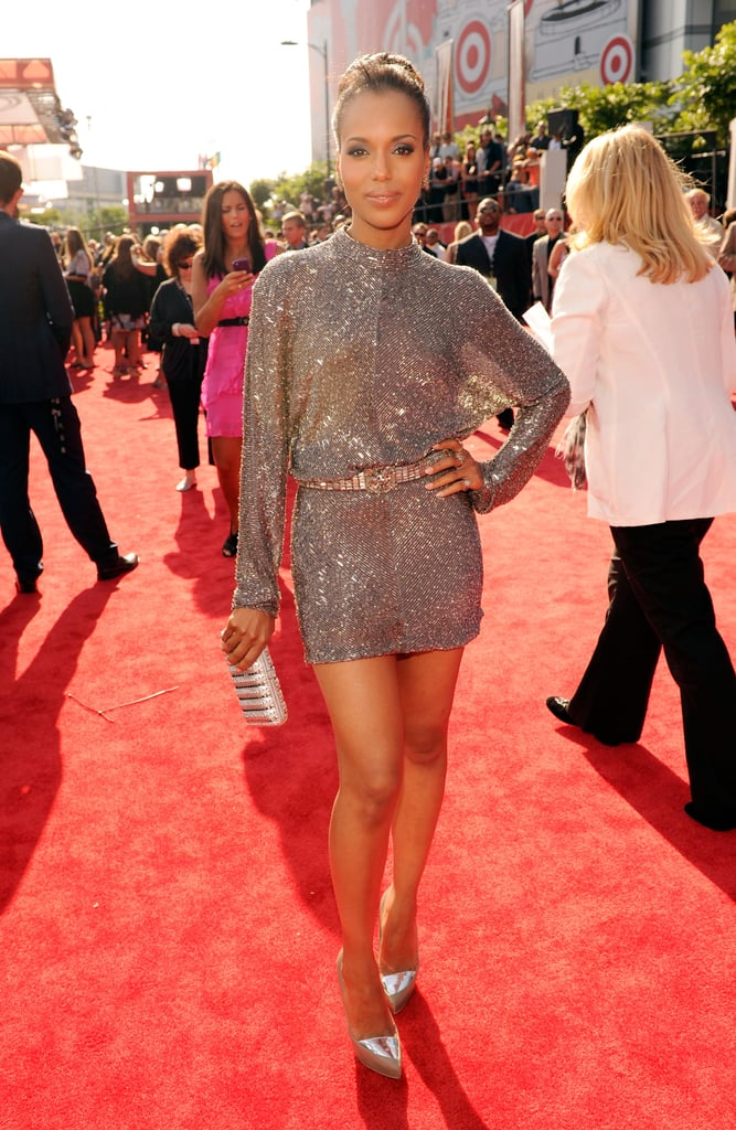 Actress Kerry Washington sparkled on the red carpet.