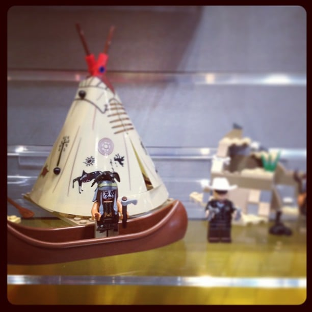 Lego has several sets tied to the upcoming Lone Ranger, including a minifigure that looks like Johnny Depp.