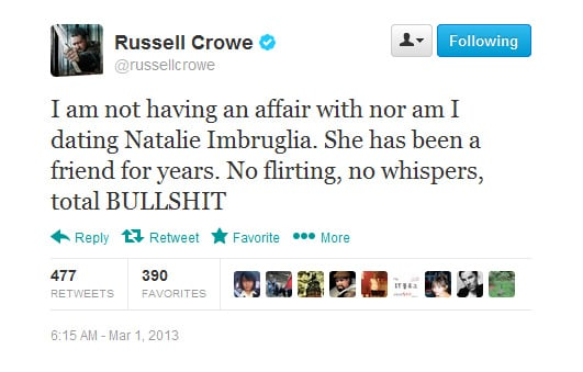 Russell clears up those Natalie rumours.