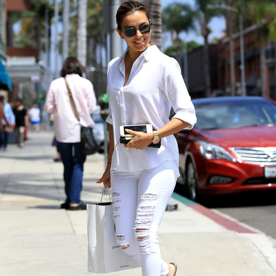Eva Longoria Wearing White in Los Angeles July 2016