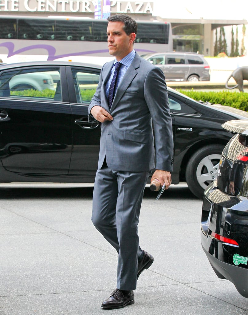 Jim Toth arrived at his LA office building.