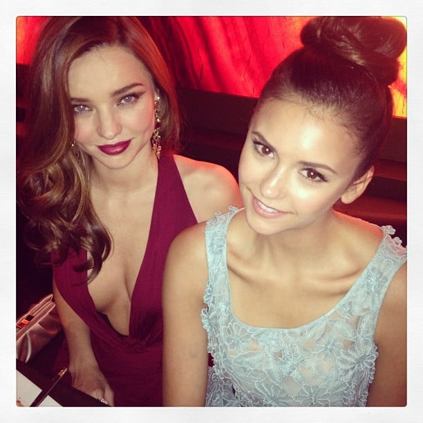 Miranda Kerr partied with Nina Dobrev at the Golden Globes InStyle bash. Source: Twitter user MirandaKerr