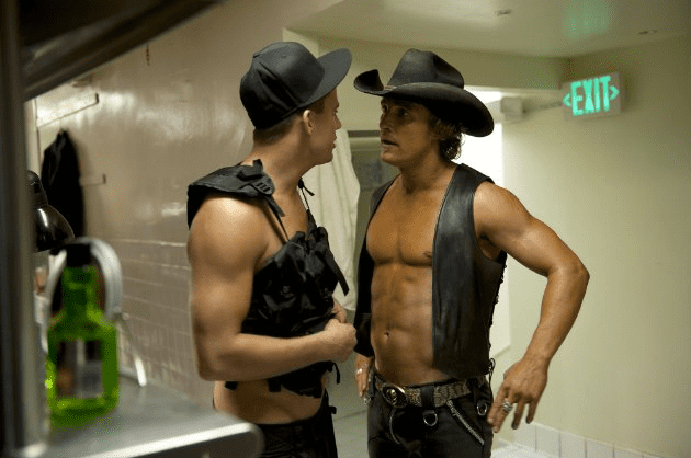 He showed skin for a scene with Channing Tatum in 2012's Magic Mike.