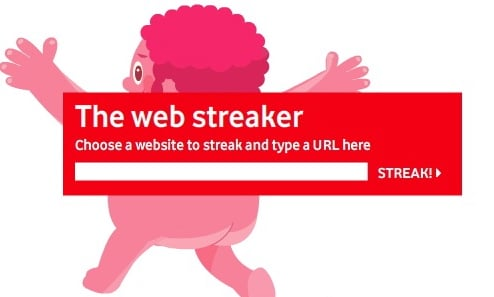 Vodafone's Web Streaker Scandalizes Your Web Pages