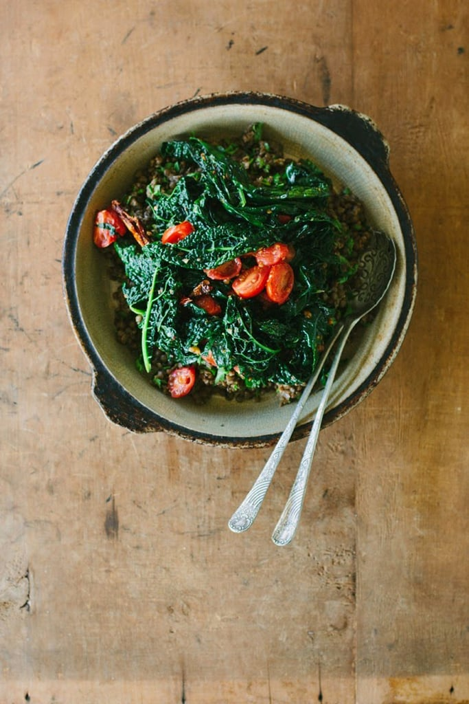Spiced Lentils With Chili Garlic Kale