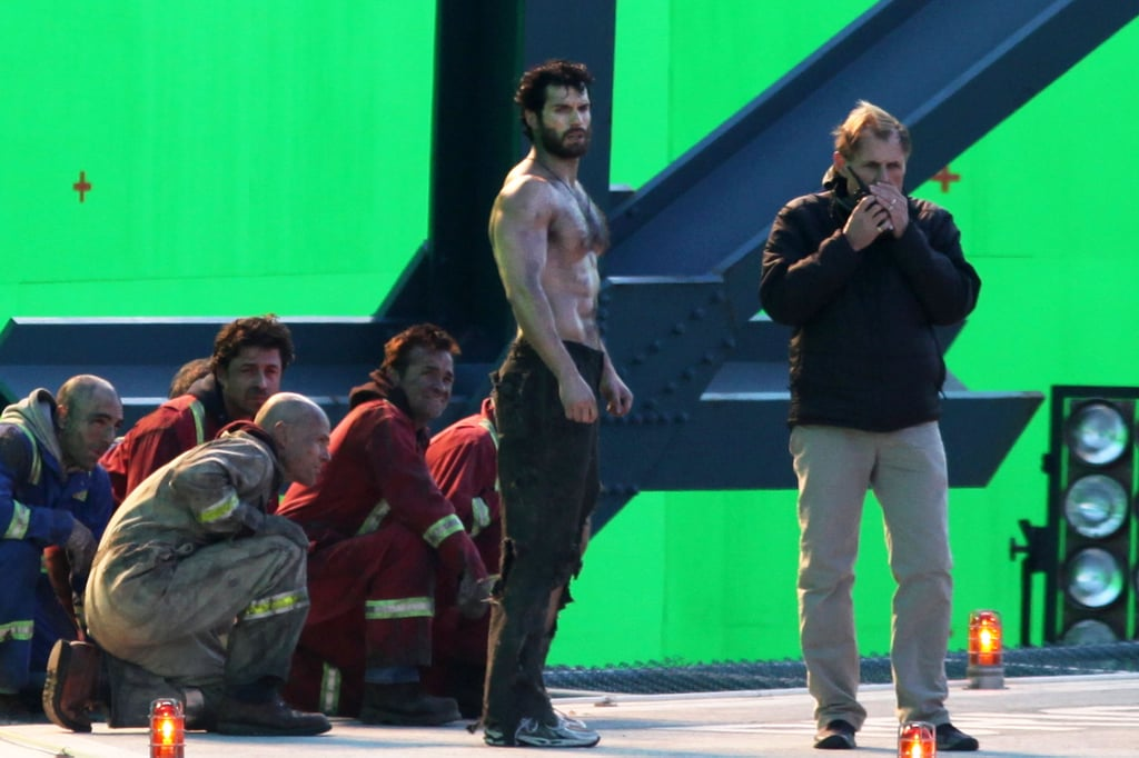 Henry Cavill waited for filming to begin.