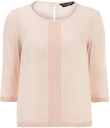 Blush beaded blouse