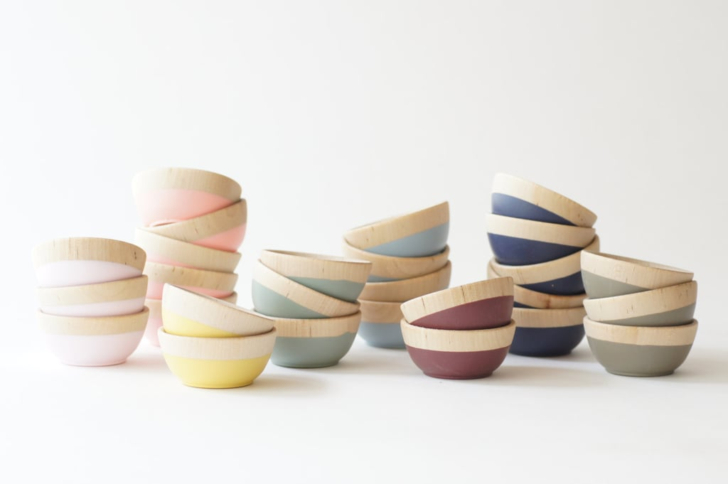 How pretty are these wooden pinch bowls ($8)? Choose from dark red, navy, or brown come Fall.