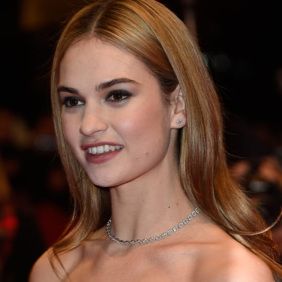 Lily James Dior Dress at Cinderella Premiere