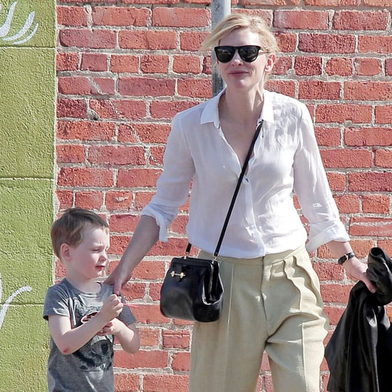 Cate Blanchett and Her Son Ignatius Eating Ice Cream