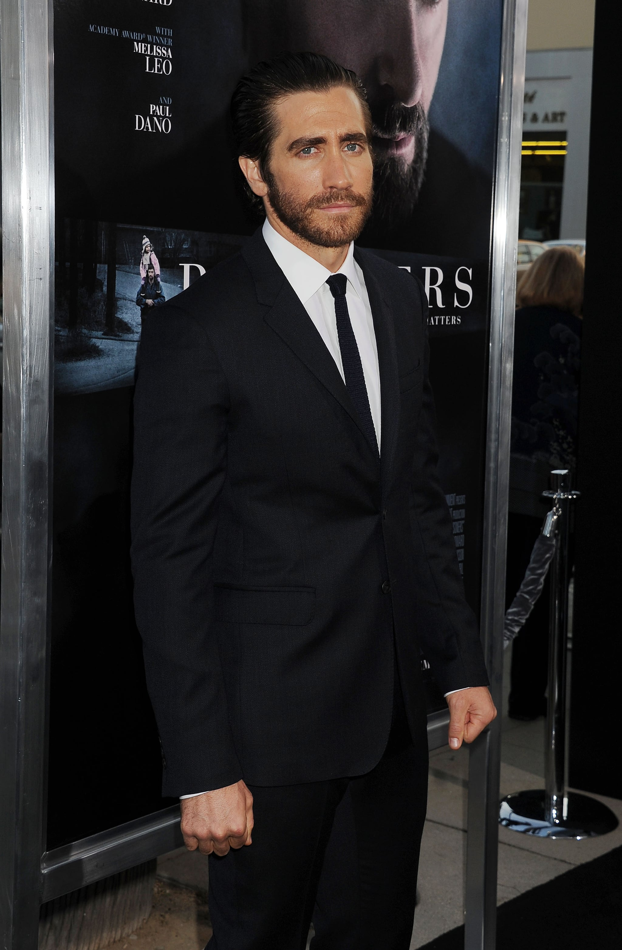 Jake sported a sleek suit and sexy scruff at the LA premiere of Prisoners in September 2013.