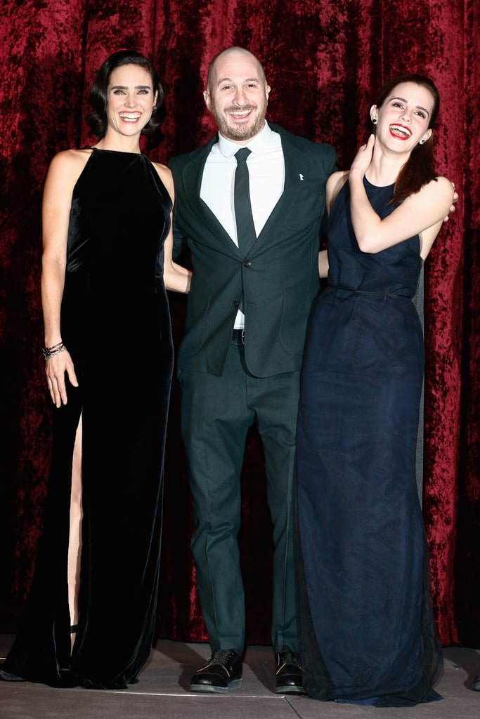 Jennifer Connelly, Darren Aronofsky, and Emma Watson shared a laugh at the premiere of Noah in Berlin on Thursday.
