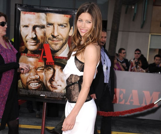 Slide Picture of Jessica Biel at The A-Team Premiere in LA