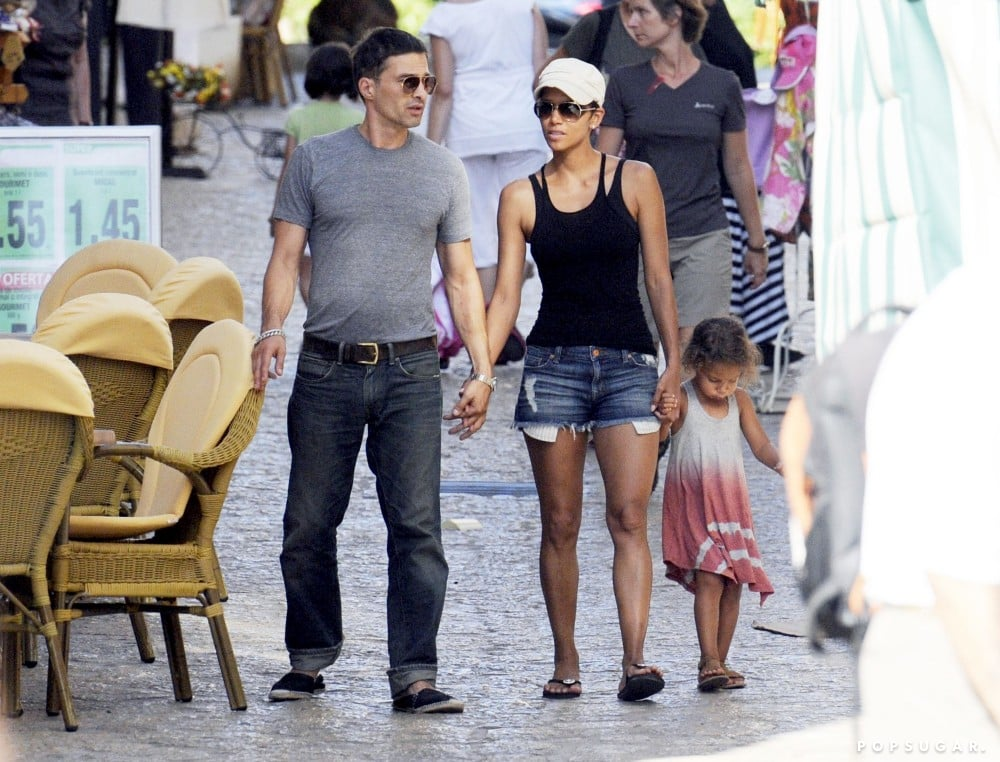 Halle Berry and Olivier Martinez explored Majorca, Spain, with Nahla Aubry in September 2011.