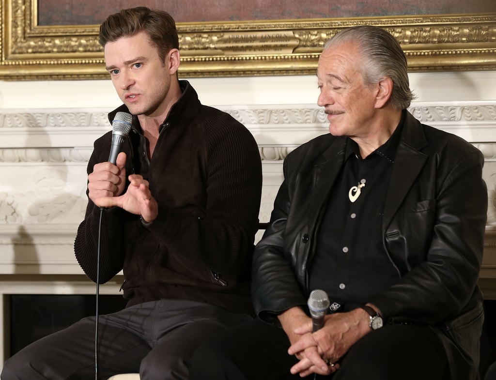 Justin Timberlake and Charlie Musselwhite spoke on stage during the event.