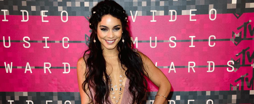 Vanessa Hudgens Looks Like a Bohemian Bridal Goddess at the VMAs