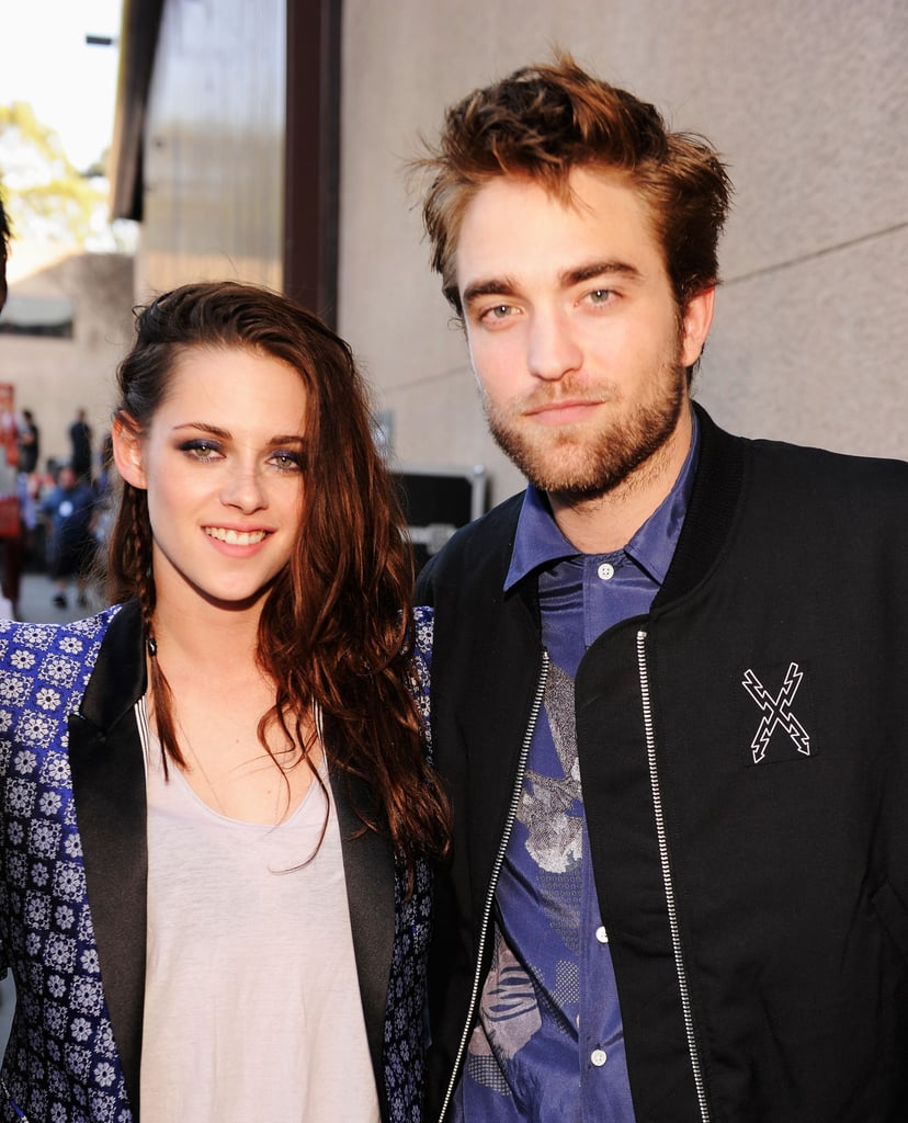Kristen Stewart and Robert Pattinson posed backstage together at the Teen Choice Awards in LA in July 2012.