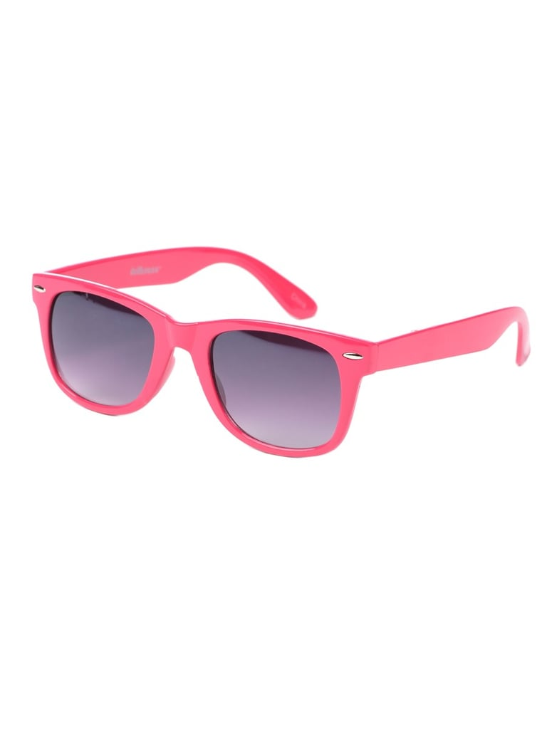 We love Wayfarers on dudes, but we adore them in bubblegum pink ($20) for her.