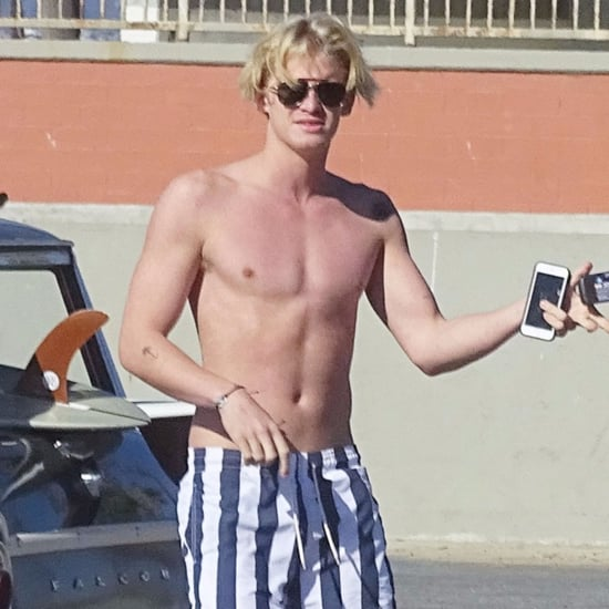 Cody Simpson Shirtless at the Beach in LA November 2015