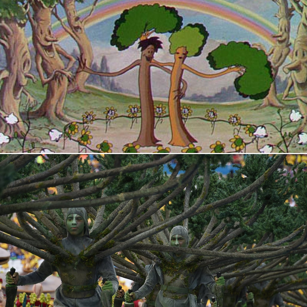 Remember that Flowers and Trees Disney cartoon? The human trees in the opening ceremony bear quite the resemblance. Source: Disney, Getty / VANDERLEI ALMEIDA