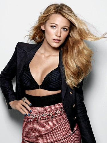 Blake Lively struck a sexy pose for US Marie Claire in December 2009. Source: Marie Claire