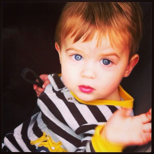 Lil Milo Langdon has certainly grown up! Alyssa Milano shared a picture on his 17-month birthday. Source: Instagram user milano_alyssa
