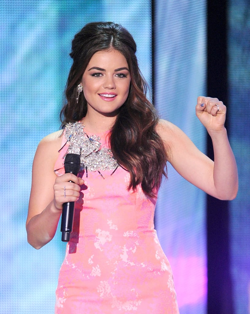 Host Lucy Hale took the mic at the Teen Choice Awards.