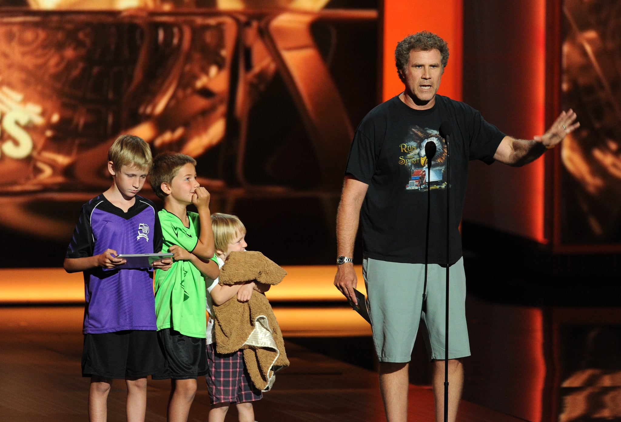 Will Ferrell Kids Emmys Will Ferrell and His K...
