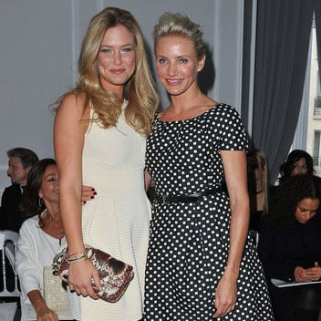 Cameron Diaz and Bar Refaeli Paris Fashion Week Pictures