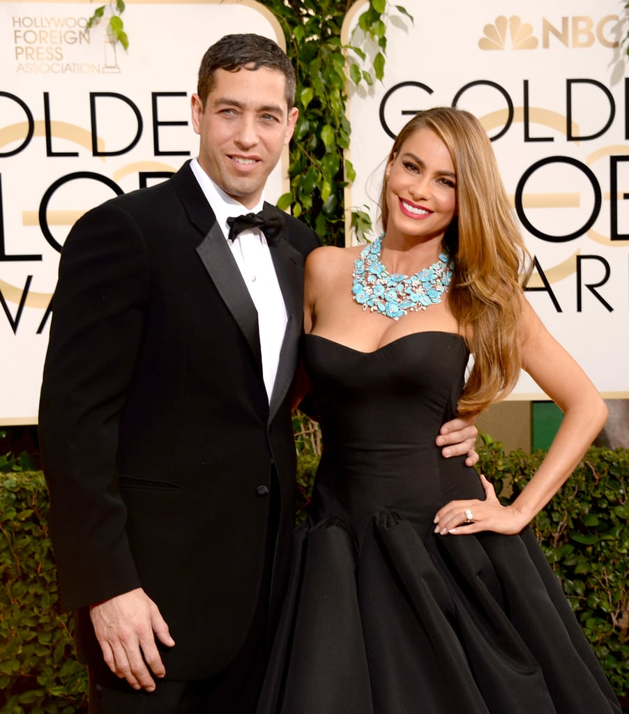 Sofia Vergara hit the red carpet with her fiancé, Nick Loeb, at the Golden Globes.