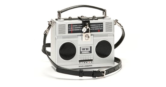 A Dolce & Gabbana Bag Shaped Like an '80s Stereo