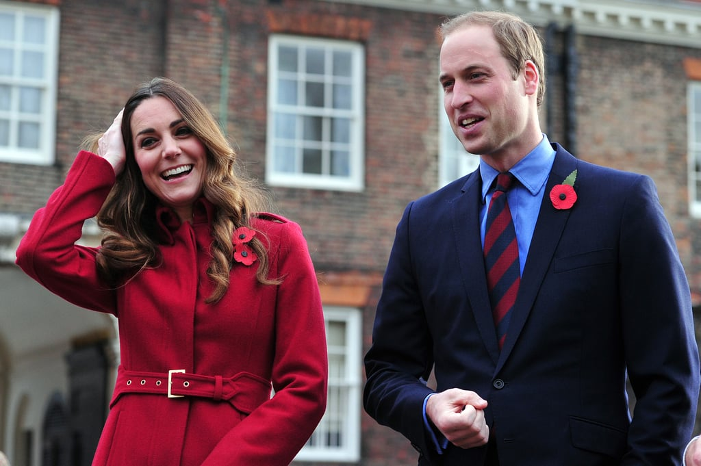 Prince William and Kate Middleton shared a laugh.